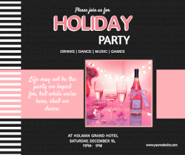 Online Editable Holiday Party Facebook Post