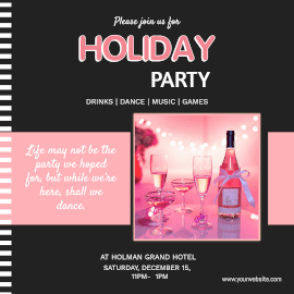 Online Editable Holiday Party Instagram Ad
