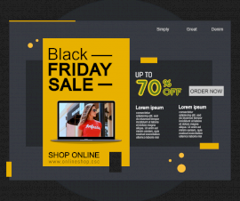 Online Editable Black Friday Sale Photo Mockup