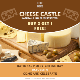 National Moldy Cheese Day - Instagram Ad