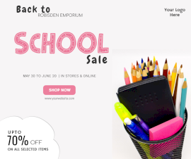 Online Editable Sale On Back To School Facebook Post