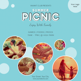 Online Editable Summer Picnic Social Media Post