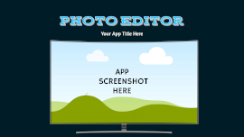 Online Editable Photo Editor Curved Apple TV App Screenshot