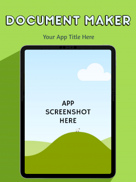 Online Editable Document Maker iPad Pro Portrait App Screenshot
