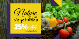 Online Editable Vegetable Shop Promotion Twitter Post
