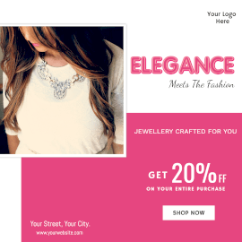 Online Editable Jewelry Sale Instagram Ad