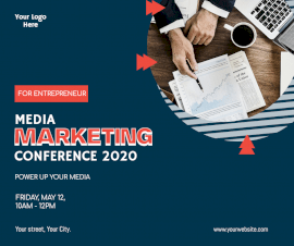 Online Editable Marketing Conference 2020 Facebook Post