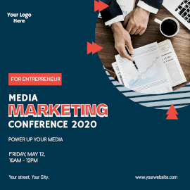 Online Editable Marketing Conference 2020 Instagram Ad