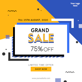 Online Editable Grand Sale Instagram Ad