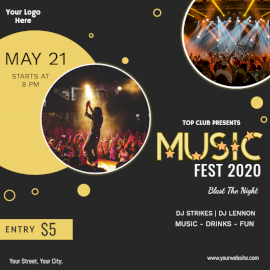 Online Editable Music Fest 2020 Social Media Post