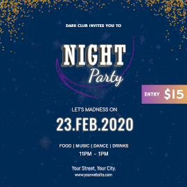 Night Party- Instagram Ad