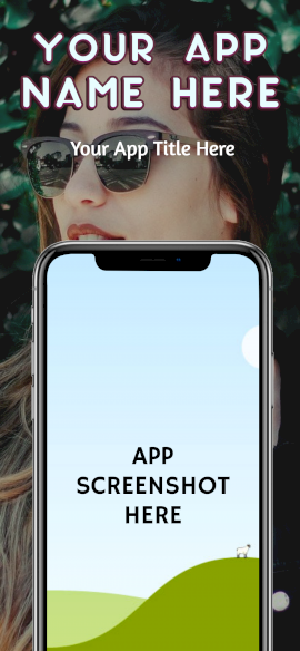 Online Editable Women's Fashion iPhone X Portrait App Screenshot