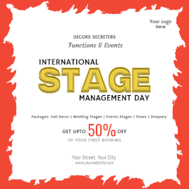 Online Editable International Stage Management Day Social Media Post