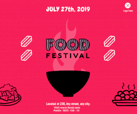 Online Editable Food Festival Design Facebook Post