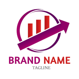 Online Editable Magenta and Red Productivity Marketing Logo