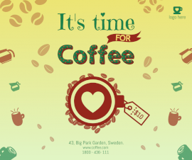 Online Editable Coffee Shop Design Facebook Post