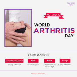 World Arthritis Day- Instagram Post
