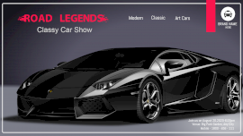 Online Editable Black and Vivid Pink Blazing Text Car Show Facebook Event Cover