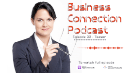 Online Editable Business Connection Teaser Podcast Audiogram