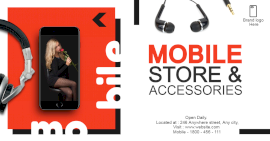 Online Editable Mobile Stores & Accessories Photo Mockup