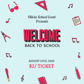 Online Editable Blue and Pink Back To School Social Media Post