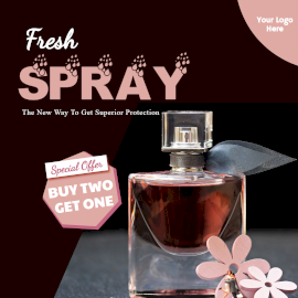 Online Editable Fresh Scents Special Offer Facebook 3D Post