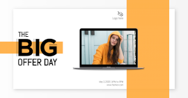 Online Editable White the Big Offer Day Photo Mockup