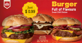 Online Editable Tasty Burger Offer Facebook Ad Post
