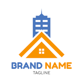 Online Editable Home and Skyscraper Architecture & Construction Logo
