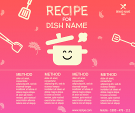 Online Editable Cooking Recipe Tips Design Facebook Post