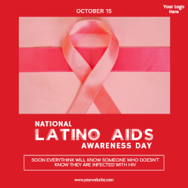 National Latino AIDS Awareness Day- Instagram Post