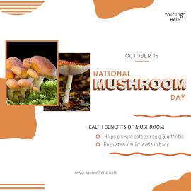National Mushroom Day- Instagram Post