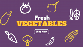Online Editable Fresh Vegetables Store GIF Post