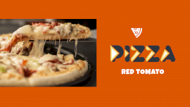 Online Editable Minimalist Cheesy Red Tomato Pizza GIF Post