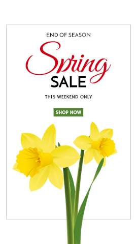 Online Editable Floral Spring Sale GIF Post