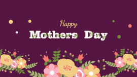 Online Editable Floral Happy Mothers Day Fancy Text GIF Post