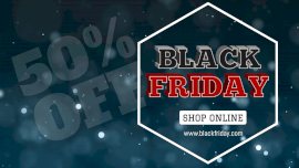 Online Editable Black Friday Shopping Sale GIF Post
