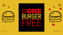 Buy One Get One Burger - Landscape GIF Post 16:9