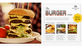 Online Editable Gray Fancy Text Burger Recipes GIF Post