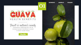 Online Editable Fancy Text Guava Fruits Healthy Benefits GIF Post