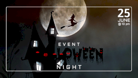 Online Editable Full Moon Halloween Night Event GIF Post