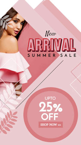 Online Editable Women's Apparels New Arrival Summer Sale GIF Post