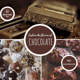 Online Editable Dark Choco Chocolate GIF Post