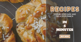 Online Editable Recipes Guide with High-res Image Facebook Ad Post