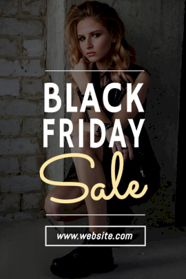 Online Editable Black Friday Sale Pinterest Graphic