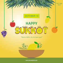 Happy Sukkot- Instagram Post