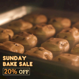 Online Editable Cookie Sale with Baking Effect Cinemagraph