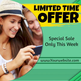 Online Editable Limited Period Offer Social Media Post