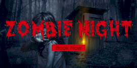Online Editable Zombie Night Show Poster Twitter Post