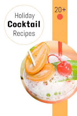 Online Editable Holiday Cocktail Recipes Pinterest Graphic